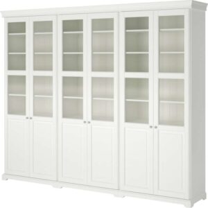 ЛИАТОРП Комбинация для хранения с дверцами белый 276x214 см - Артикул: 292.440.45