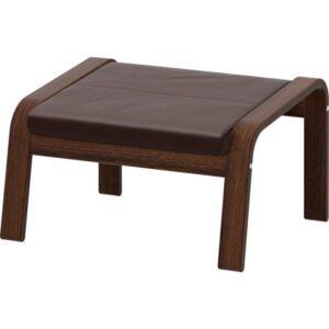 ПОЭНГ Табурет для ног коричневый/Глосе темно-коричневый - Артикул: 392.816.88