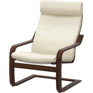 ПОЭНГ Кресло коричневый/Глосе светло-бежевый - Артикул: 692.514.68