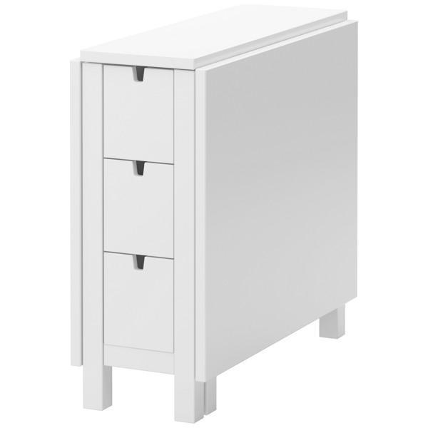 НОРДЕН Стол складной белый 26/87/148x80 см - Артикул: 902.522.44