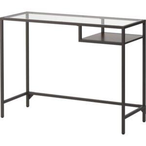 ВИТШЁ Стол д/ноутбука черно-коричневый/стекло 100x36 см - Артикул: 703.850.18