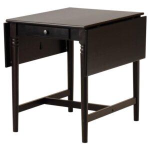 ИНГАТОРП Стол c откидными полами черно-коричневый 65/123x78 см - Артикул: 204.231.07