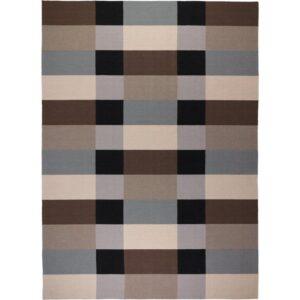 СТОКГОЛЬМ Ковер безворсовый ручная работа/в клетку коричневый 250x350 см - Артикул: 603.709.65