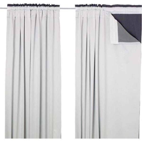 ГЛАНСНЭВА Подкладка д/пары гардин светло-серый 143x290 см - Артикул: 803.703.18