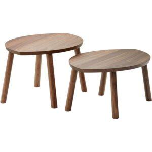СТОКГОЛЬМ Комплект столов 2 шт шпон грецкого ореха - Артикул: 103.841.73