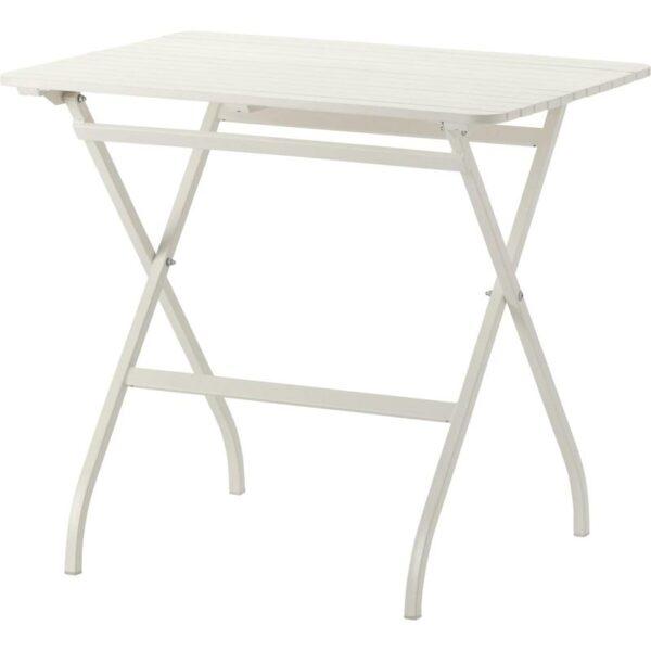 МЭЛАРО Садовый стол складной белый белый 80x62 см - Артикул: 703.761.51