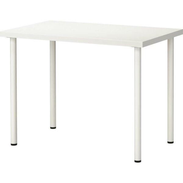 ЛИННМОН / АДИЛЬС Стол белый 100x60 см - Артикул: 892.793.86