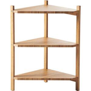 РОГРУНД Угловой стеллаж под раковину бамбук 34x60 см - Артикул: 803.690.51