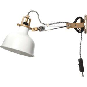 РАНАРП Настенный софит/лампа с зажимом белый с оттенком - Артикул: 503.610.04