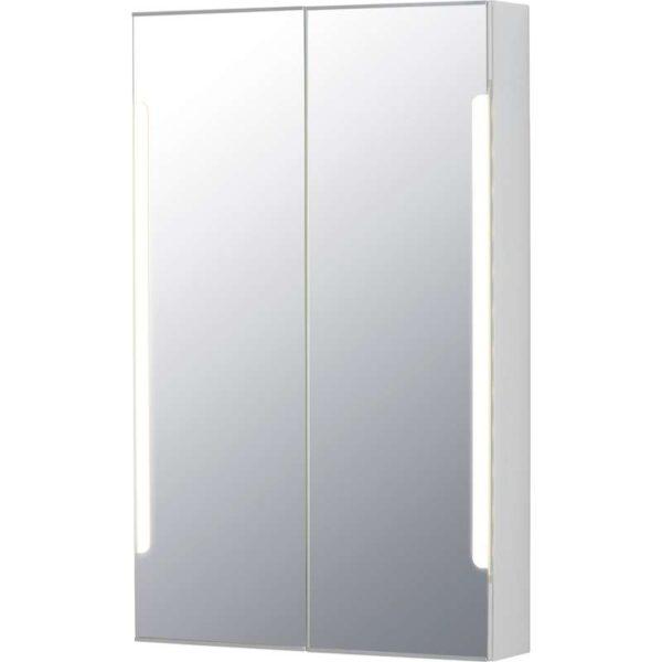 СТОРЙОРМ Зеркальн шкафчик/2дверцы/подсветка белый 60x14x96 см - Артикул: 603.690.71