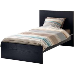МАЛЬМ Каркас кровати, высокий, черно-коричневый 90x200 см. Артикул: 403.691.52