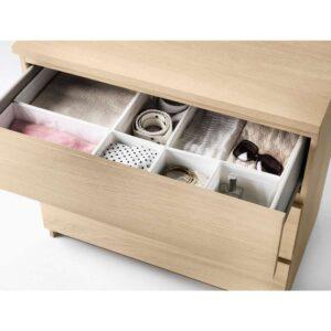 МАЛЬМ Комод с 3 ящиками дубовый шпон, беленый 80x78 см - Артикул: 303.685.39