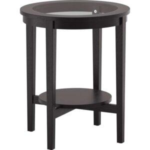 МАЛМСТА Придиванный столик черно-коричневый 54 см - Артикул: 103.832.63