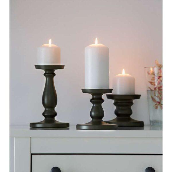 ЭРСЕТТА Подсвечник для формовой свечи серый 13 см - Артикул: 303.804.47