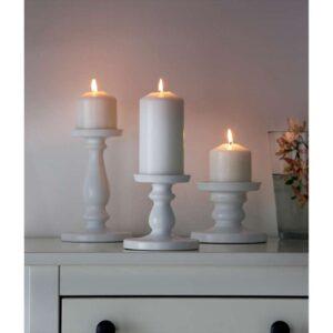 ЭРСЕТТА Подсвечник для формовой свечи белый 13 см - Артикул: 103.804.48