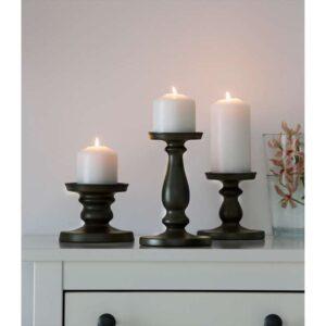 ЭРСЕТТА Подсвечник для формовой свечи серый 21 см - Артикул: 903.804.49