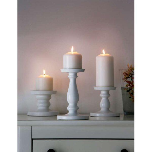 ЭРСЕТТА Подсвечник для формовой свечи белый 21 см - Артикул: 503.804.51