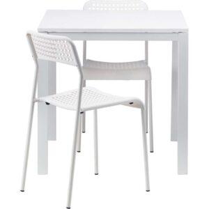МЕЛЬТОРП / АДДЕ Стол и 2 стула белый 75 см - Артикул: 192.292.53
