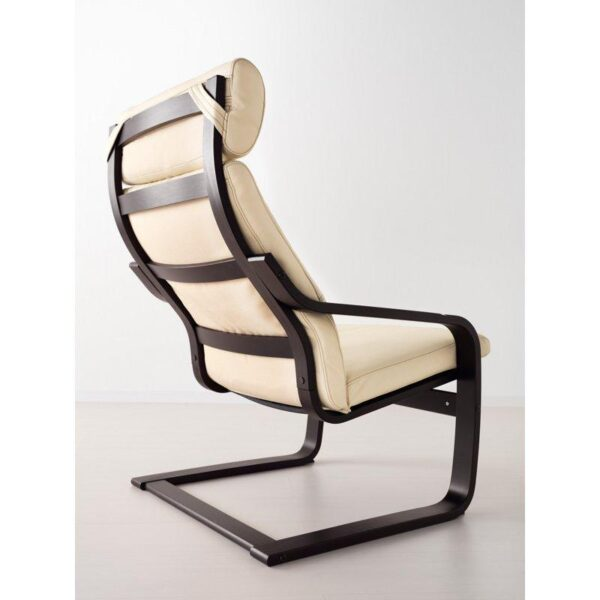 ПОЭНГ Кресло черно-коричневый/Глосе светло-бежевый - Артикул: 092.514.66