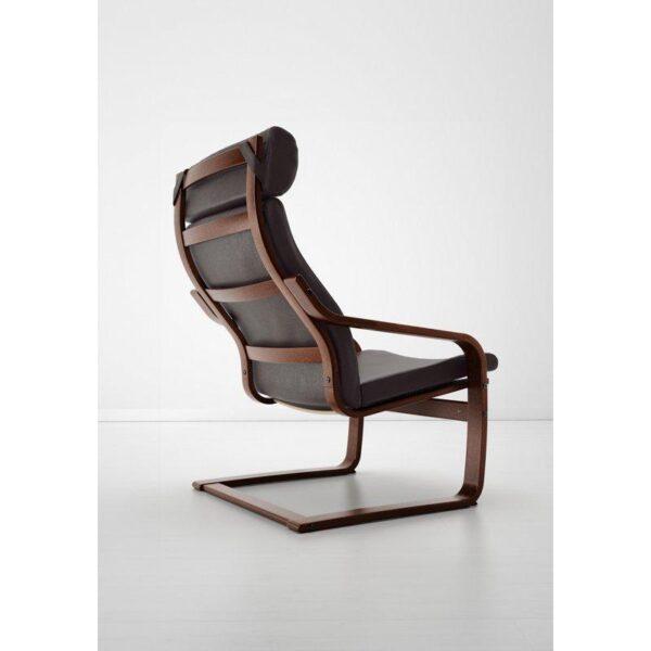 ПОЭНГ Кресло коричневый/Глосе темно-коричневый - Артикул: 892.514.67