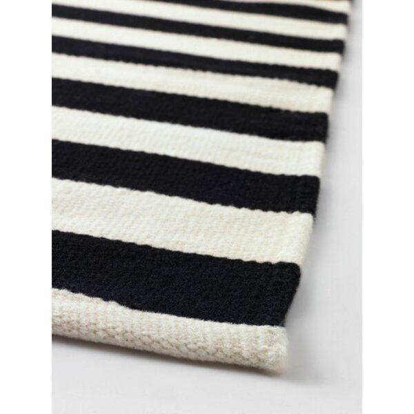 СТОКГОЛЬМ Ковер безворсовый ручная работа/в полоску черный/белый с оттенком 250x350 см - Артикул: 403.709.66