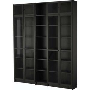 БИЛЛИ / ОКСБЕРГ Стеллаж черно-коричневый 200x237x30 см - Артикул: 592.440.01