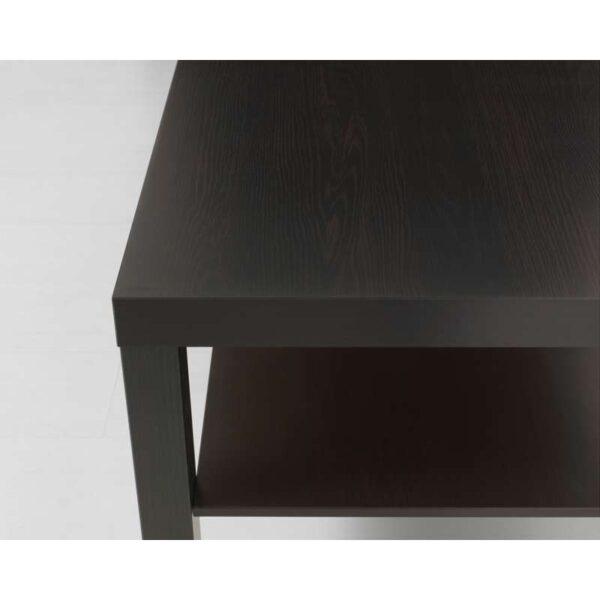 ЛАКК Журнальный стол черно-коричневый 90x55 см - Артикул: 703.985.82
