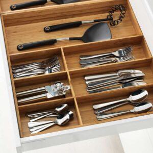 ВАРЬЕРА Лоток для столовых приборов бамбук 52x50 см - Артикул: 003.676.40