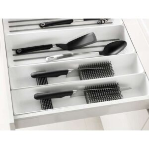 ВАРЬЕРА Подставка для ножей белый 10x50 см - Артикул: 403.676.43