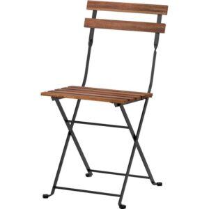 ТЭРНО Садовый стул складной черный/серо-коричневая морилка - Артикул: 903.762.68