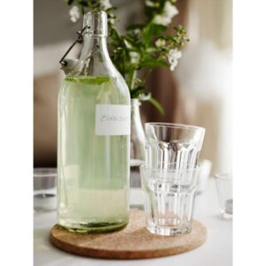 КОРКЕН Бутылка с пробкой прозрачное стекло 1 л - Артикул: 503.720.93
