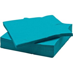 ФАНТАСТИСК Салфетка бумажная бирюзовый 40x40 см - Артикул: 303.978.48