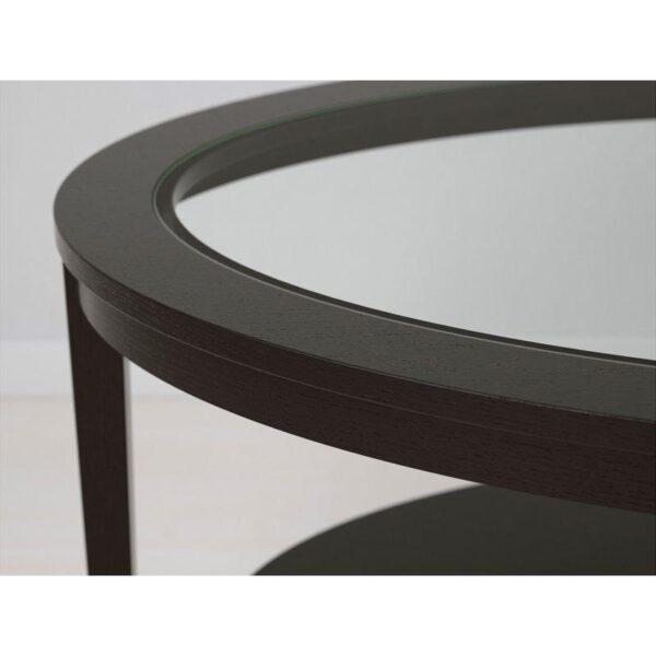 МАЛМСТА Журнальный стол черно-коричневый 130x80 см - Артикул: 303.832.62