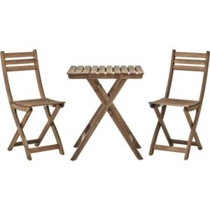 АСКХОЛЬМЕН Стол+2стула,д/сада серо-коричневая морилка - Артикул: 192.288.85