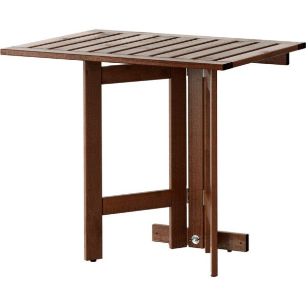 ЭПЛАРО Складной стол/стенной крепеж,д/сада коричневая морилка 80x56 см - Артикул: 003.763.38
