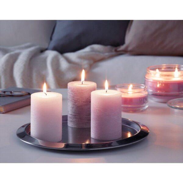 ЛУГГА Формовая свеча, ароматическая Цветение розовый 10 см - Артикул: 304.193.22