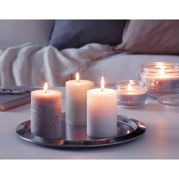 ЛУГГА Формовая свеча, ароматическая Нежная ваниль/бежевый 10 см - Артикул: 504.193.21