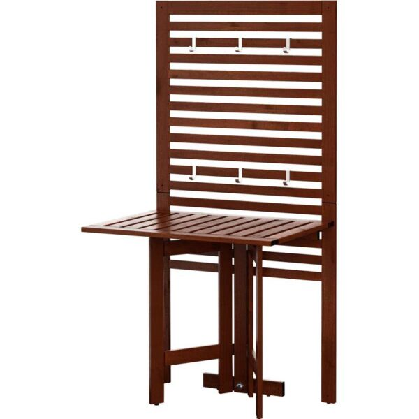 ЭПЛАРО Настенная панель+садовый стол коричневая морилка 80x62x158 см - Артикул: 492.288.79