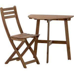 АСКХОЛЬМЕН Стол+1 складной стул д/сада серо-коричневая морилка - Артикул: 092.288.81