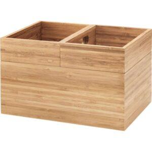 ДРАГАН Набор коробок,3шт бамбук 23x17x14 см - Артикул: 003.695.59