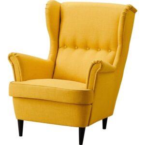 СТРАНДМОН Кресло с подголовником Шифтебу желтый - Артикул: 804.199.42