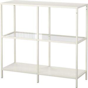 ВИТШЁ Стеллаж белый/стекло 100x93 см - Артикул: 803.834.34
