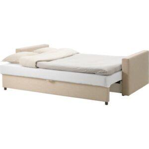 ФРИХЕТЭН 3-местный диван-кровать, Шифтебу бежевый. Артикул: 104.115.53