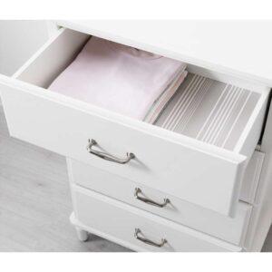 ТИССЕДАЛЬ Комод с 4 ящиками белый 67x102 см - Артикул: 303.686.19