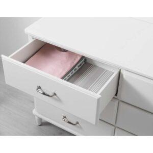 ТИССЕДАЛЬ Комод с 6 ящиками белый 127x81 см - Артикул: 703.686.22