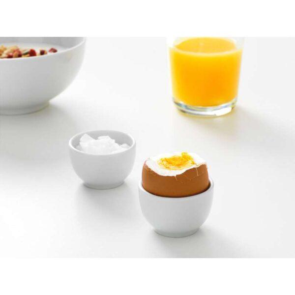 ИКЕА/365+ Миска/подставка д/яйца с округлыми стенками белый 5 см - Артикул: 003.808.68
