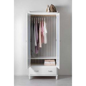 ТИССЕДАЛЬ Шкаф платяной белый/зеркальное стекло 88x58x208 см - Артикул: 903.697.91