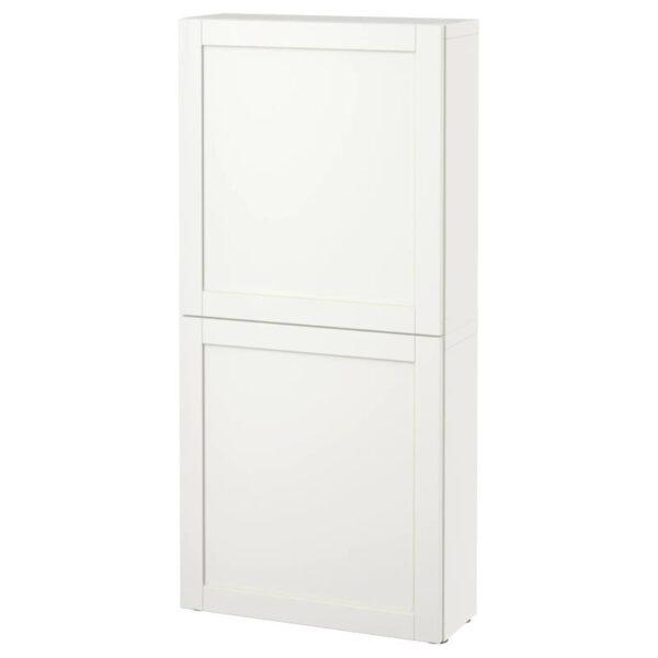 БЕСТО Навесной шкаф с 2 дверями, Ханвикен белый 60x20x128 см - Артикул: 290.574.92