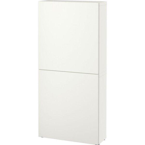 БЕСТО Навесной шкаф с 2 дверями Лаппвикен белый 60x20x128 см   Артикул: 792.482.58