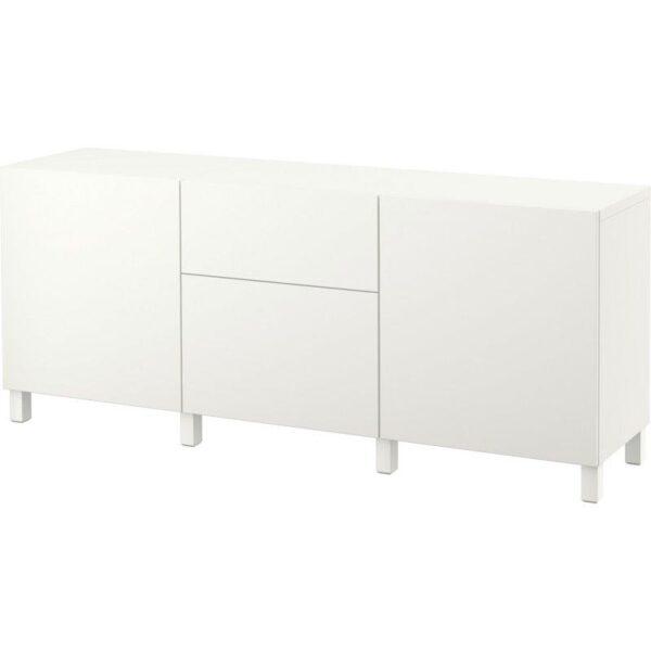 БЕСТО Комбинация для хранения с ящиками Лаппвикен белый 180x40x74 см | Артикул: 092.494.21